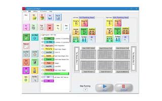 タッチパネル操作の直感的な制御ソフト